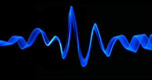 frequency in blue neon